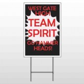 Team 43 Wire Frame Sign