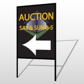Auction Corner 650 H-Frame Sign