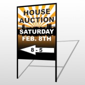 Auction Left Arrow 716 H-Frame Sign