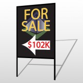 For Sale Corner 704 H-Frame Sign