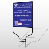 Blue Diamond 656 Round Rod Sign