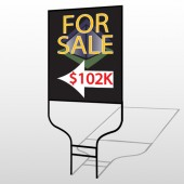 For Sale Corner 704 Round Rod Sign