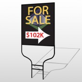 For Sale Corner 705 Round Rod Sign