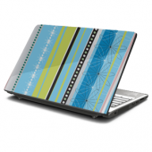Artsy Blue Laptop Skin