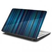 Blue Stripes Laptop Skin