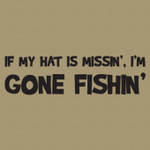 Gone Fishin 256 Wall Lettering