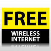 Free Wireless Internet Sign Panel