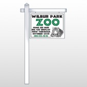 "Zoo 127 18""H x 24""W Swing Arm Sign"