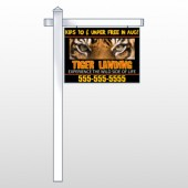 "Tiger Landing 303 18""H x 24""W Swing Arm Sign"