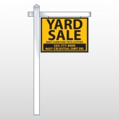 "Yellow Black 551 18""H x 24""W Swing Arm Sign"