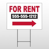 For Rent 46 Wire Frame Sign