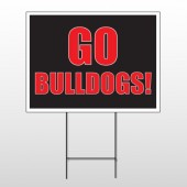 Go Bull Dogs 75 Wire Frame Sign