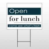 Open For Lunch 83 Wire Frame Sign
