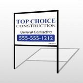 Construction 70 H-Frame Sign