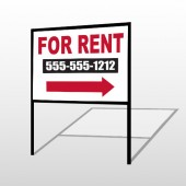 For Rent 46 H-Frame Sign