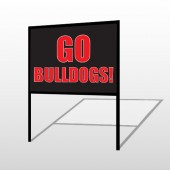 Go Bull Dogs 75 H-Frame Sign
