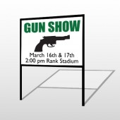 Gunshow 74 H-Frame Sign