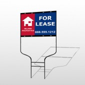For Lease 2 Round Rod Sign