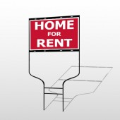 For Rent 47 Round Rod Sign