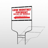 Low Monthly Left 117 Round Rod Sign