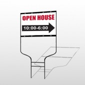 Open House 17 Round Rod Sign