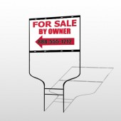 Sale By Owner 24 Round Rod Sign