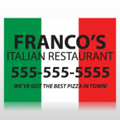 Italian Restuarant Sign Panel