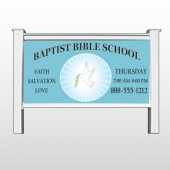 Bibledove 162 48&quot;H x 96&quot;W Site Sign  Stand