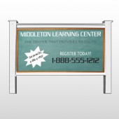 "Chalk Board 157 48""H x 96""W Site Sign"