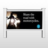 "Motorcycle 106 48""H x 96""W Site Sign"