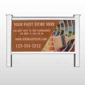 Paint Brushes 256 48&quot;H x 96&quot;W Site Sign