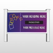 "Purple Stripes 142 48""H x 96""W Site Sign"