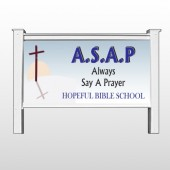 "Sunrise Cross 164 48""H x 96""W Site Sign"