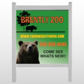 "Bear Zoo 302 48""H x 48""W Site Sign"
