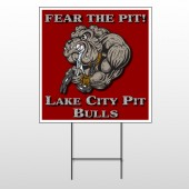 Fear Dog Mascot 51 Wire Frame Sign