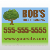 Tree Trimming Service Sign Panel