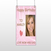 Happy B-Day Marley 10 Window Sign